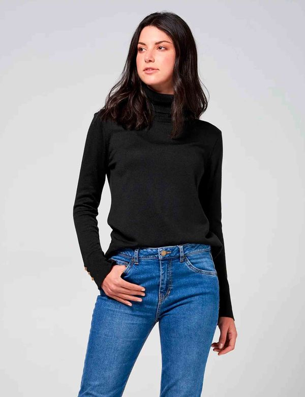 BUSO-MUJER-SWEATER-ESPRIT-163A101-NEGRO