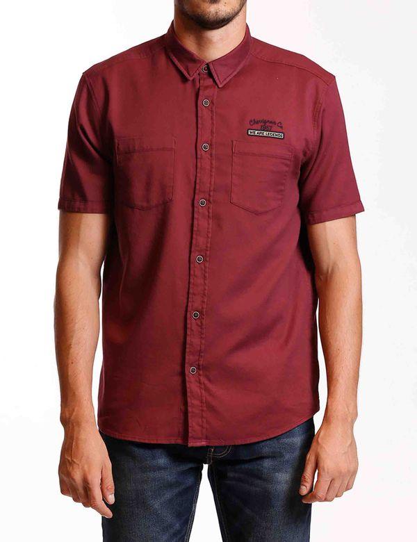 camisa-hombre-manga-corta-chevignon-619a035-rojo