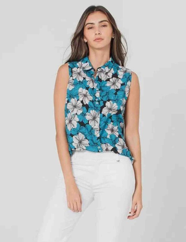 camisa-mujer-manga-sisa-esprit-619a005-azul